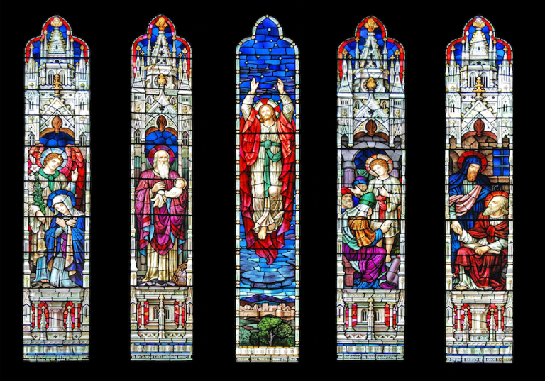 St. Luke's Church stained glass windows - photographer unknown