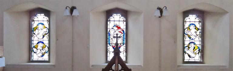 St. Luke's Church west wall lower windows